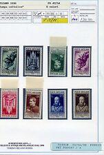Vaticano Pio XI-  Stampa Cattolica 8 Val.Integri e perfetti Cart.  Bolaffi 100%