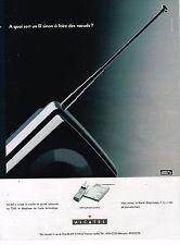 PUBLICITE ADVERTISING 035  1990  ALCATEL   téléphone sans fil