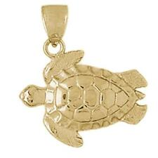 New 14k Gold Turtle Pendant