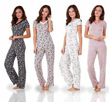 Ladies Short Sleeve Floral Print PJ Set Stretch Nightwear Womens Pyjamas