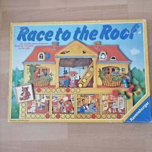 Race To The Roof Vintage Board Game By Ravensburger 1988 - Used VGC Complete