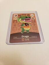 Drago # 243 Animal Crossing Amiibo Card Horizons Series 3 MINT NEVER SCANNED!