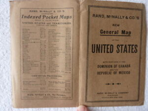 Rand McNally New General Map of  United States with Portions of Canada & Mexico