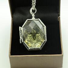 Mode Halskette Harry Potter SLYTHERIN KRISTALL SCHLANGE HORCRUX Locket Amulett