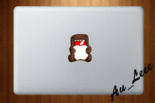 Macbook Air Pro Vinyl Skin Sticker Decal - Domo eating apple  #cmac217