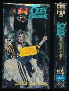 CBS Fox Betamax NOT VHS Ozzy Osbourne The Ultimate Ozzy 1986 Heavy Metal Death
