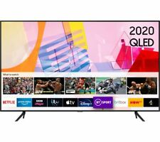 "SAMSUNG QE65Q60TAUXXU 65"" Smart 4K Ultra HD HDR QLED TV with Bixby, Alexa & Goog"
