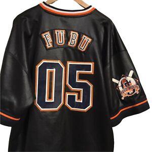 VTG Fubu Jersey Men Black New York 05 Baseball 90s Rap Tee Hip Hop Sz XXL