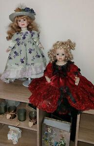 Leonardo Collection LARGE X2 Porcelain Dolls