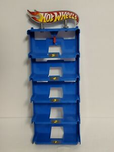 Hot Wheels Garage parking replacement Blue Column tower elevetor Station 2010