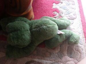 Russ Fribbit Frog Soft Toy Vintage