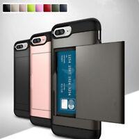 Shockproof Wallet Credit Card Pocket Holder Case Cover For iPhone X 8 6s 7 Plus