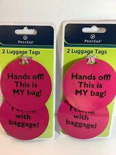 PROTEGE LUGGAGE TAGS(2 SETS)
