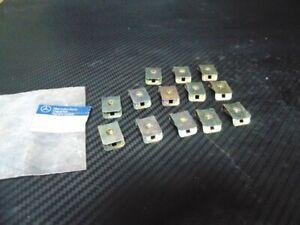 Rear Lid Nut Retainer - Set: 13 Pcs Mercedes W124 - A1249900091 - Genuine New