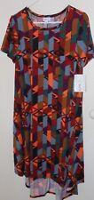 NEW LulaRoe Carly Dress Aztec Warm Colors Size small
