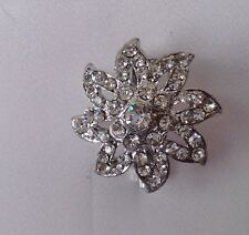 Diamante Brooch ,bridal cake topper 2 cm d4