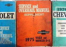 1975 CHEVROLET VEGA MONZA 2+2 SERVICE AND  OVERHAUL MANUAL SUPPLEMENT