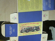 REPLIQUE  BOITE MATCHBOX : BENTLEY 4,5 L LE MANS 1929/ 2éme VERSION 1962/68