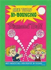 Old Hi Bouncing Diamond Ball Toy Vending Machine Sign