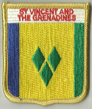 ST VINCENT AND THE GRENADINES FLAG EMBROIDERED PATCH BADGE