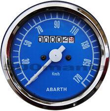 STRUMENTO CONTACHILOMETRI FIAT 500 F/L/R e FIAT 126 - BLU Ø 80 mm - LOGO ABARTH
