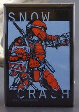"Snow Crash Book Cover - 2"" X 3"" Fridge / Locker Magnet. Neal Stephenson"