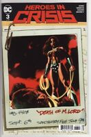 HEROES IN CRISIS #3 DC Comics WONDER WOMAN VARIANT COVER! Harley Quinn Flash 1 2
