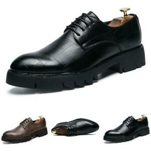 Mens Dress Formal Leather Shoes Pointy Toe Oxfords Business Work Office Party L