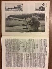 WEAPON ORDNANCE antique 1910 guns Cannons Howitzer Krupp Siege, Mortar artillery