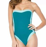 NWT La Blanca Women's Modern Muse One-Piece Swimsuit Women's Blue Size 8