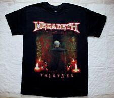 MEGADETH THIRTEEN 2011 NEW ALBUM 13 ANTHRAX METALLICA HIRAX NEW BLACK T-SHIRT