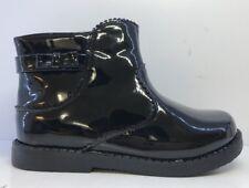True Love Is Shoe Love Girl's Black Patent Wellingtons Uk 10 Infants RRP £28
