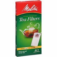 Melitta Super Premium Loose Leaf Tea Paper Filters, 40 Count - Set of 2
