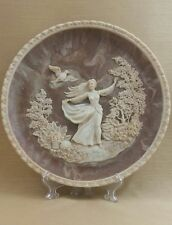 """""""To a Skylark"""" / Incolay Stone Collectors Plate"""