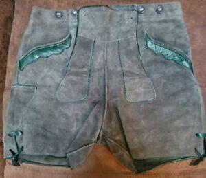 Oktoberfest Bavarian Shorts Lederhosen Men Traditional Authentic German leather