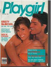 Playgirl June 1986 Kelly Coffee Summer Souvenirs Barbarian Bros Kristy McNichol