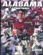 Alabama Football Media Guide 2003 Mike Shula