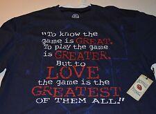 New BUFFALO Football s/s Tee Shirt! Blue with red & white imprint -  XL New Era