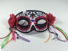 Fiesta De La Muerte Augen-Maske mit Pailletten Rosen Dias De Los Muertos Damen