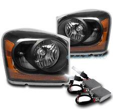 04-05 DODGE DURANGO CRYSTAL REPLACEMENT HEADLIGHT LAMP BLACK W/50W 6K XENON HID