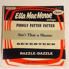 Ella Mae Morse swings vinyl 45 single Capitol Records EAP 1-9126 picture sleeve
