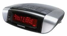 Grundig Sonoclock 660 PLL Radiowecker Uhrenradio RDS Silber