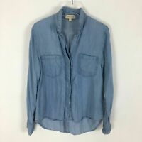 Cloth and Stone Denim Tencel Button Down Blouse S