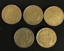 2008 2011 2014 2015 2016 SET OF 5 ST JOHNS CHAPEL ISLE OF MAN POUND COIN £1 CIRC
