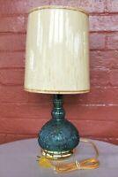 Tiara Indiana Glass Bicentennial Colonial Blue Sandwich Electric Table Lamp