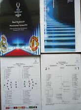 Mappe Line-ups ... UEFA Super Cup 8.8.2017 Real Madrid - Manchester United