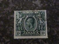 JAMAICA POSTAGE STAMP GV SG106 10/- MALTA SCRIPT CA MYRTLE GREEN SUPERB-USED
