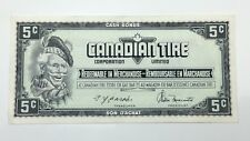 1974 Canadian Tire 5 Five Cents CTC-S4-B1-AM Circulated Money Banknote E123