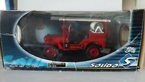 1:18 SOLIDO JEEP WILLYS POMPIERS 1942 REF 8076