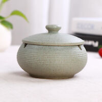 Ceramic Ashtray with Lid Ash Holder for Smokers with Beautiful Pattern #1